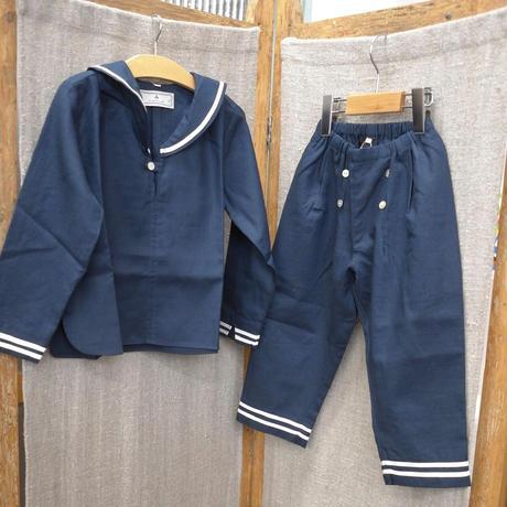 au clair de la lune-paris セーラーパンツ /cotton&linen