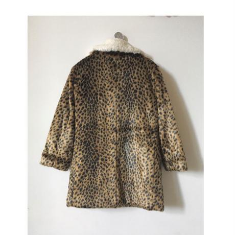 Bellerose girls フェイクファーミディコート/ leopard print