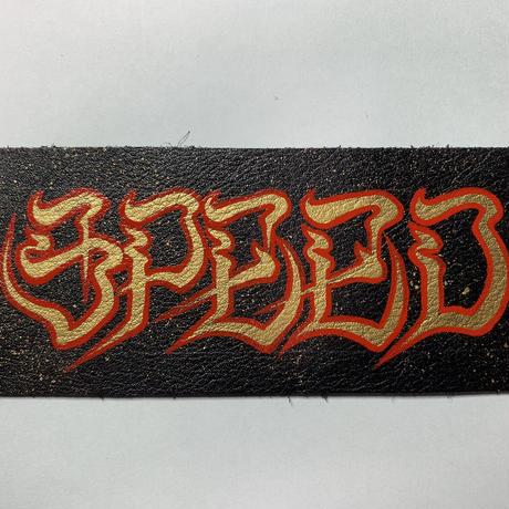 手描き革パッチ SPEED
