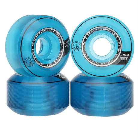 Feather Wheel CONICAL 101A 52mm  Clear Blue