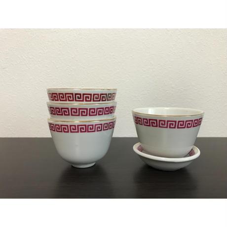 【香港☆中国制造】キッチュな模様の茶杯  /  コロンとした可愛い形