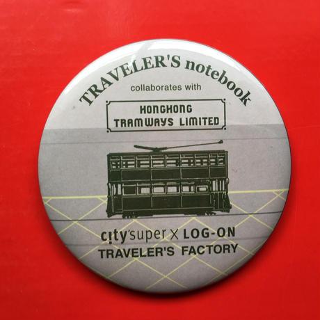 ☆限定☆【TRAVELER'S notebook×citysuper×LOG-ON】 缶バッジ(大)