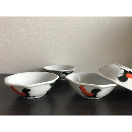 【香港☆ 雞 食器】八角碗 /  ボウル・取り皿として Y-5909