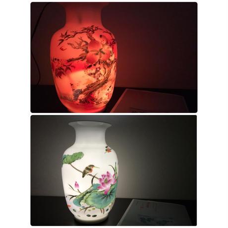 【香港☆景徳鎮】慶豐瓷荘 壺・花瓶 /  秋の夜長に灯りとして使ってみませんか?