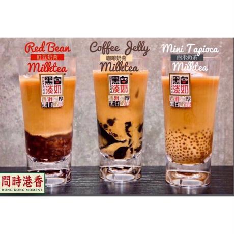 【香港☆茶餐廳食器】黑白淡奶BLACK&WHITE / 衝撃に耐えて頑張るプラスチックのグラス