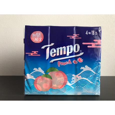 【香港☆Tempo】2020今年の「桃」が入荷しました!! 使い捨てハンカチ「香り付き」(ティッシュ)18pcs / 1パック