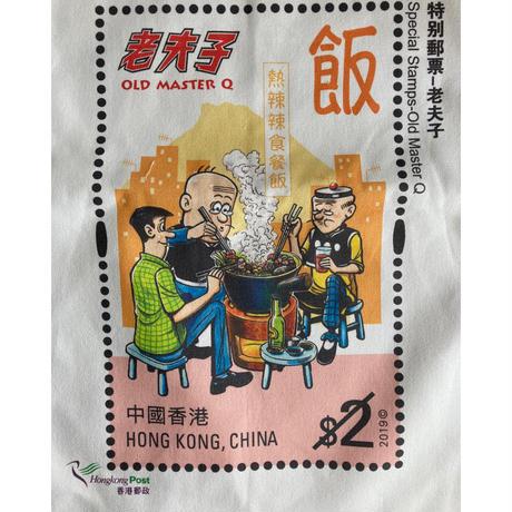 """【香港郵政×老夫子】Hongkong Post×Old Master QのTOTE BAG   /  ひとつで2度楽しい両面 """"別"""" プリント"""