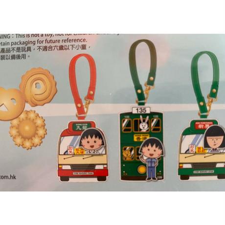 <Limited>【香港☆小丸子】キュート♡ラゲッジタグ&パスケース   / 緑小巴・紅小巴・香港電車の3種類