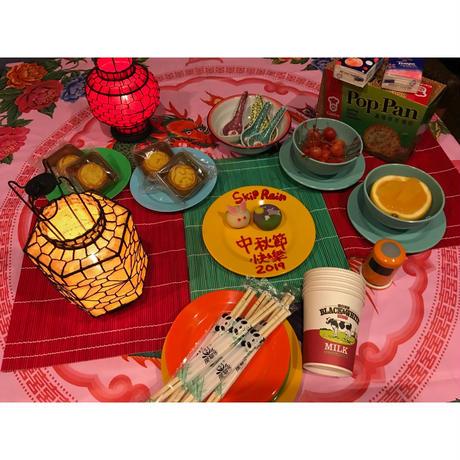 【香港☆メラミンお皿】<直径15cm>  カラフル♪カラフル♪メラミンお皿 / (3色)家居用品