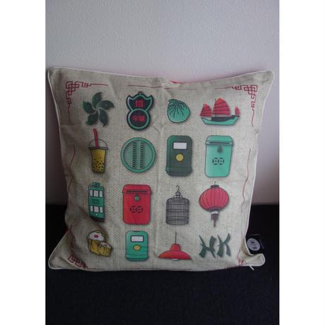 """【香港☆L / F】典型的な""""特色香港"""" /  Quintessential HK cushion cover"""