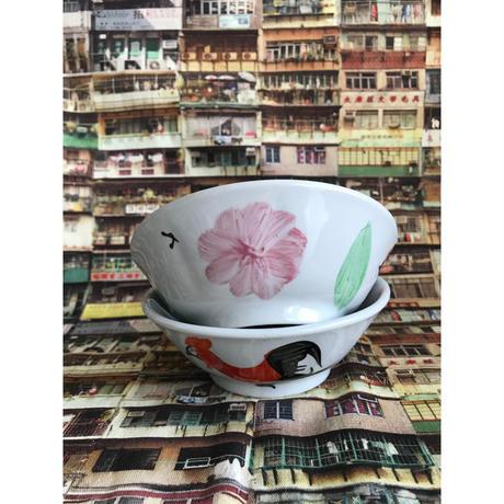 【香港☆中国制造】手書き(中)雞碗・ボウル  /  瓷彩雞5.43斗碗