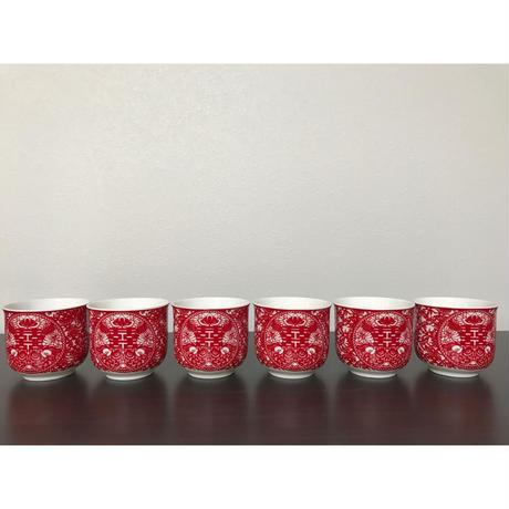 【香港☆囍】☆Renewal☆<バラ売り>茶器セットのティーカップ2pcs=1set