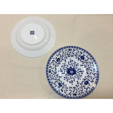 【香港☆景徳鎮制】藍色 中皿  / デイリーユースの食器
