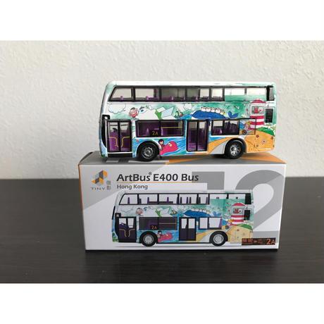 【香港☆TINY】城市12合金車仔   /  E400  藝術巴士(2A)
