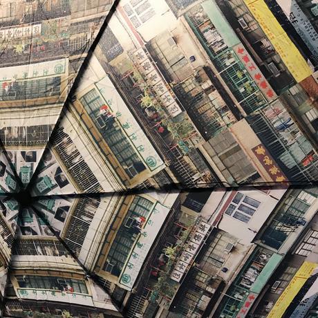 【香港☆G.O.D.】 「スリム&軽い」油麻地柄☆ 三摺遮 / 折りたたみ傘