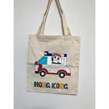 【香港☆李鄭屋手作人】手書きトートバッグ・環保袋  / みんな大好き雪糕車