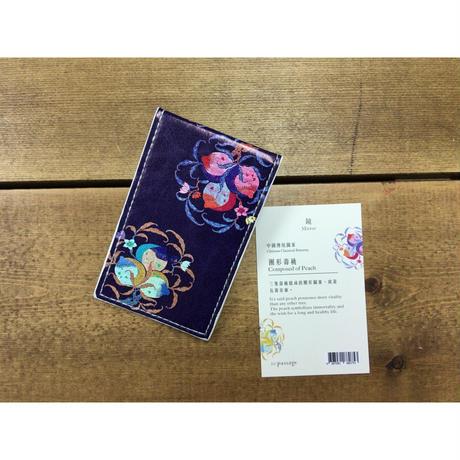 【香港☆圑形壽桃】鏡・三隻壽桃組成的圑形圖案  /  composed of peach mirror