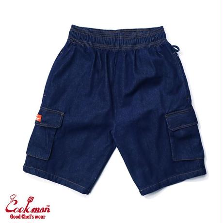 【COOKMAN】シェフパンツ Chef Pants Short Cargo Denim Navy