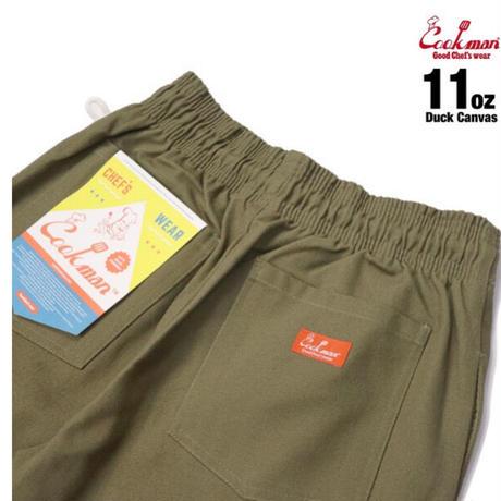 【COOKMAN】シェフパンツ Chef Pants Duck Canvas Khaki