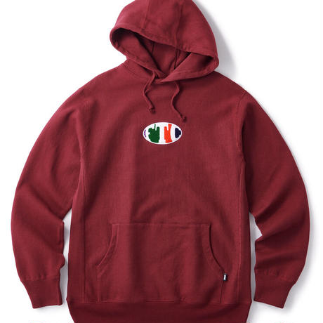 【FTC】CHENILLE OVAL LOGO PULLOVER HOODY