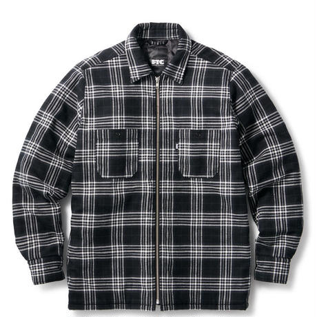 【FTC】QUILTED LINED PLAID NEL ZIP SHIRT