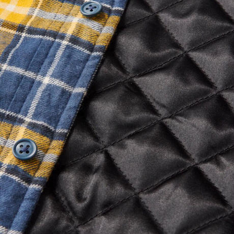 【FTC】QUILTED LINED PLAID NEL SHIRT