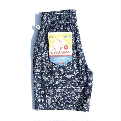 【COOKMAN】Chef Pants Short Paisley Navy