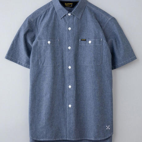 【BLUCO】CHAMBRAY WORK SHIRTS S/S