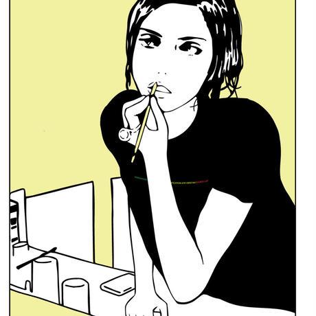 【SKREWZONE】MIRROR ART JAPANICAN LOGO TEE