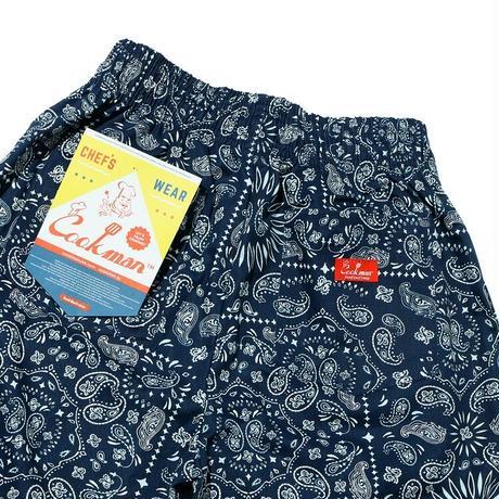 【COOKMAN】Chef Pants Short Paisley Navy