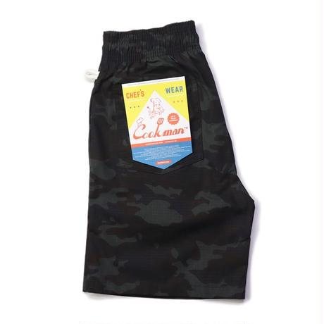 【COOKMAN】シェフパンツ Chef Pants Short Ripstop Camo Black (Woodland)
