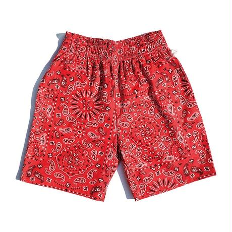 【COOKMAN】Chef Pants Short Paisley Red