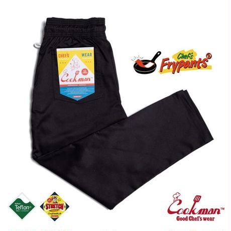 【COOKMAN】Chef's Frypants Black