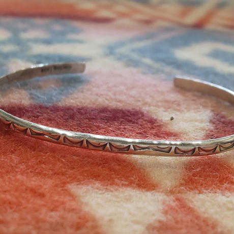 (再入荷) NAVAJO 『925SILVER NARROW BANGLE(ROUND)』