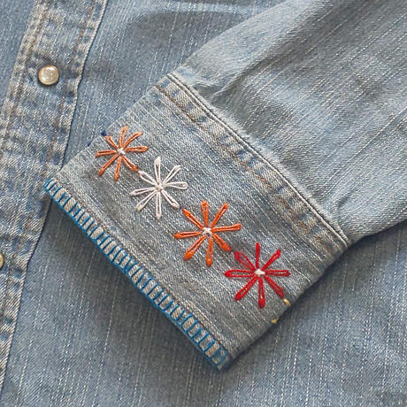 Nasngwam. 『FLOWER DENIM SHIRTS (A)』