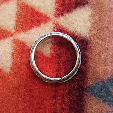 ZUNI 『INLAY LAME RING(NARROW) (B)』