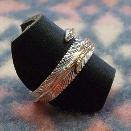 (再入荷) NAVAJO 『12KGF FEATHER RING(T. Mace) 19号』