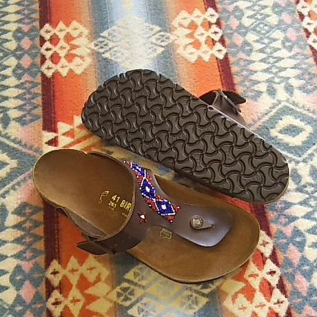 EARLY MORNING 『BEADS SANDAL(RAMSES brown) 41サイズ』