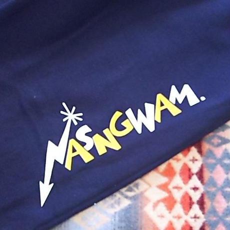 Nasngwam. 『80's LOGO PANTS (NAVY)』