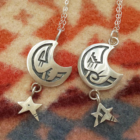 HOPI 『MOON&STAR NECKLACE (Shannon Talawepi) B』