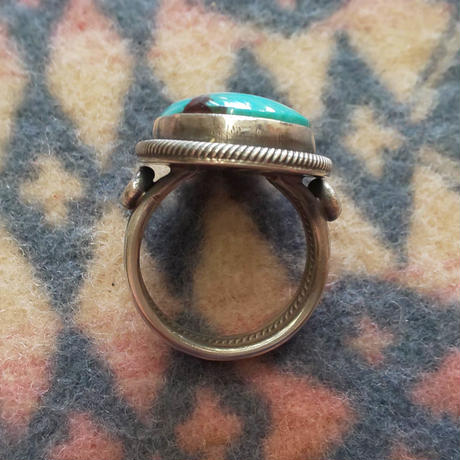 NAVAJO 『TURQUOISE(KINGMAN) RING(Gloria Begay) 24号』