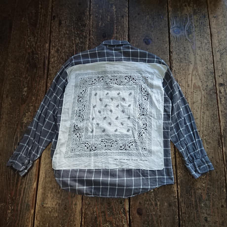 【SALE】 Nasngwam. 『RE:BANDANA SHIRTS (CHECK) Mサイズ』