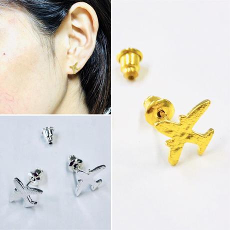 耳元を演出する小型機✨ミニヒコーキピアス(予備のピアスキャッチ付き)