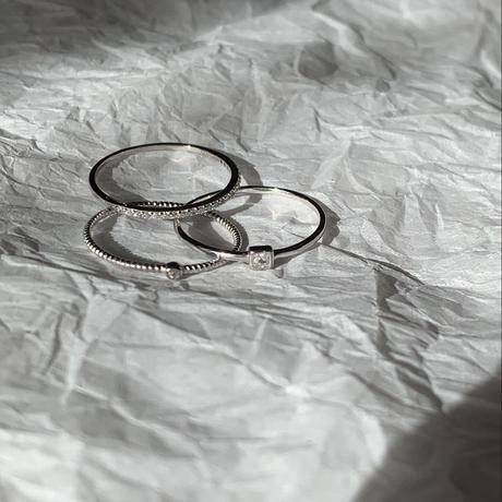 【3点セット】ジルコニアスキニーリング silver925
