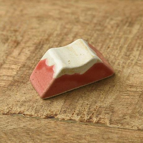 土作りの箸置き 富士山 赤富士レッド