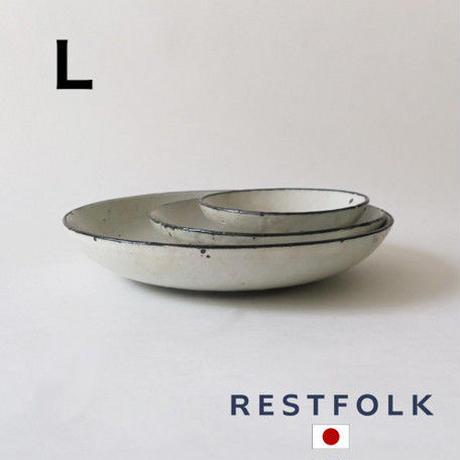 RESTFOLK セラミック リム ディーププレート(L)Made in Japan