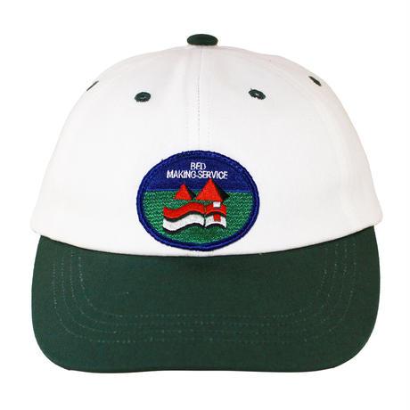 BMS 2 TONE CANVAS CAP GREEN/WHITE