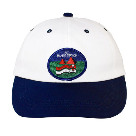 BMS 2 TONE CANVAS CAP NAVY/WHITE