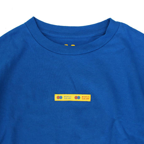 THANK YOU TAPE L/S TEE BLUE