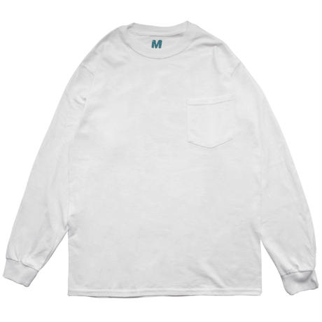 3D FACE LOGO POCKET L/S TEE